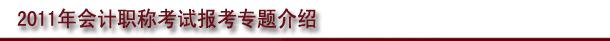 2011年会计龙8国际娱乐专题